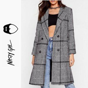 Ask for the Cheque Check Longline Coat